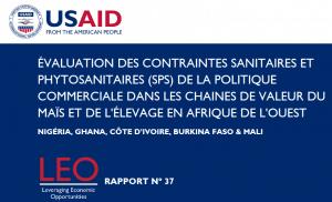 Évaluation des Contraintes Sanitaires et Phytosanitaires (SPS) de la Politique Commerciale dans les Chaines de Valeur du Maïs et de l'Élevage en Afrique de l'Ouest: Nigéria