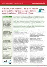 GWI : Fiches d'information sur les services de conseil agricole pour la grande irrigation