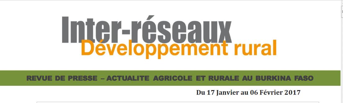Revue de presse Burkina: du 17 Janvier au 06 février 2017