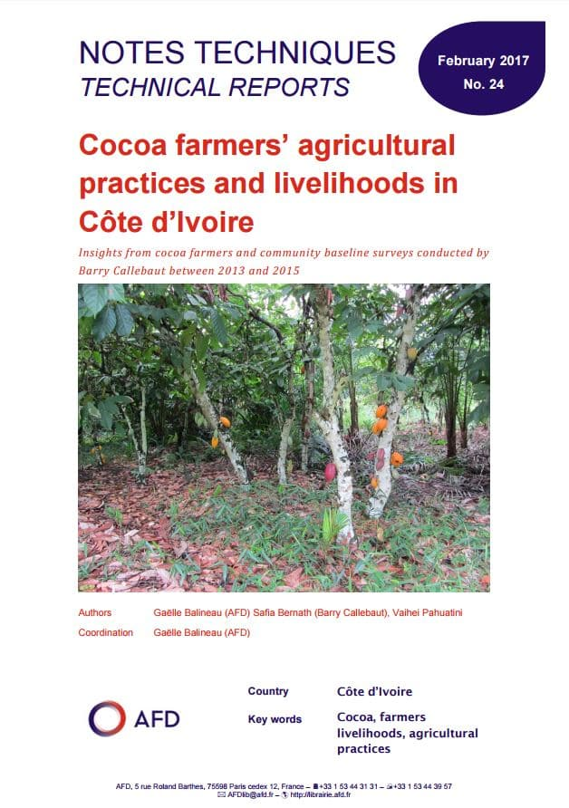 Study: Cocoa farmers' agricultural practices and livelihoods in Côte d'Ivoire