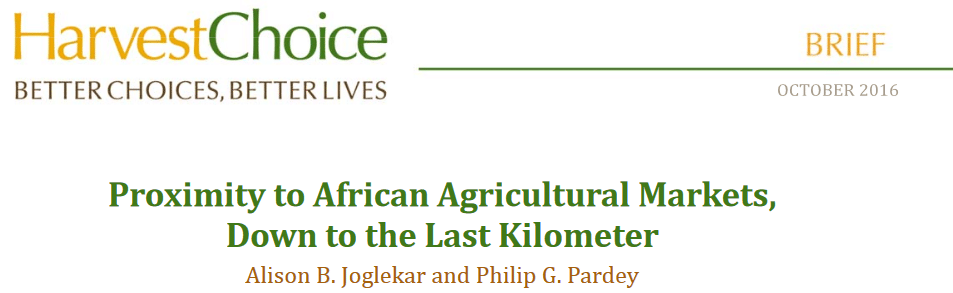 Report: Proximity to African Agricultural Markets, Down to the Last Kilometer