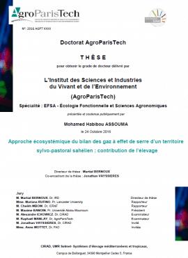 Travaux de thèse : Quelle contribution de l'élevage pastoral aux gaz à effet de serre ?