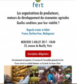 Conférence-débat sur les conditions de viabilité des organisations de producteurs à l'agri-agence Fert à Paris