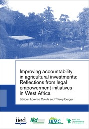 Publication : Improving accountability in agricultural investments (West Africa)