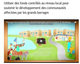 """Vidéo de GWI: """"Partager les revenus des grands barrages pour soutenir le développement local"""""""