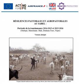 Résiliences pastorales et agropastorales au Sahel : Portraits de la transhumance 2014-2015 et 2015-2016. (Sénégal