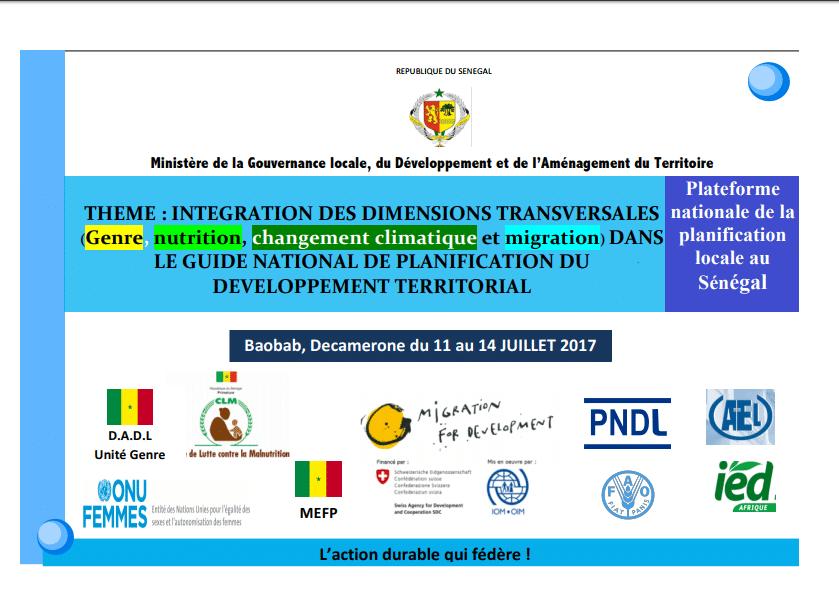 Intégration des dimensions transversales dans la planification du développement territorial du Sénégal : IED Afrique participe à l'atelier de consultation nationale
