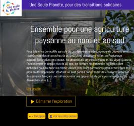 """Artisans du monde: un webdoc """"commerce équitable et relocalisation de l'alimentation"""""""