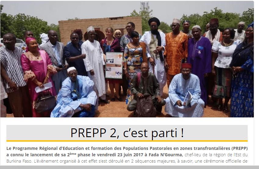 L'APESS lance la 2ème phase du PREPP (Programme Régional d'Education et formation des Populations Pastorales en zones transfrontalières)