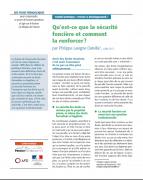 Synthèse : Qu'est-ce que la sécurité foncière et comment la renforcer ?