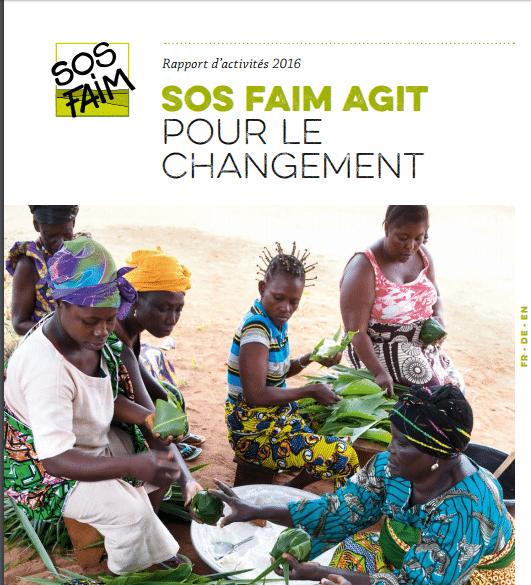 Rapport d'activités 2016 : SOS Faim Luxembourg agit pour le changement