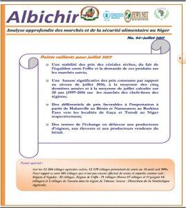 Bulletin Albichir n°94 (Juillet 2017) - Analyse approfondie des marchés et de la sécurité alimentaire au Niger
