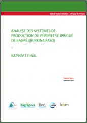 Analyse des systèmes de production du périmètre irrigué de Bagré (Burkina Faso)