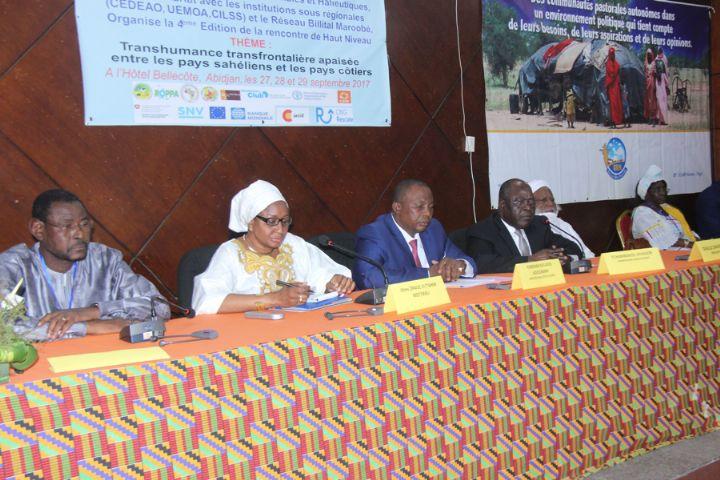 Retour sur la 4eme édition de la rencontre de haut niveau pour une transhumance transfrontalière apaisée à Abidjan, le RBM était de la partie