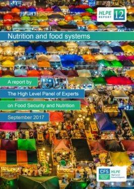 """Rapport 2017 du HLPE sur la sécurité alimentaire """"Nutrition et systèmes alimentaires"""""""