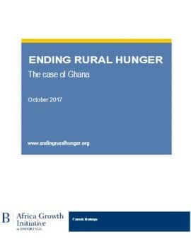 Enhancing food and nutrition security in a newly middle-income country: Ghana's unique challenge
