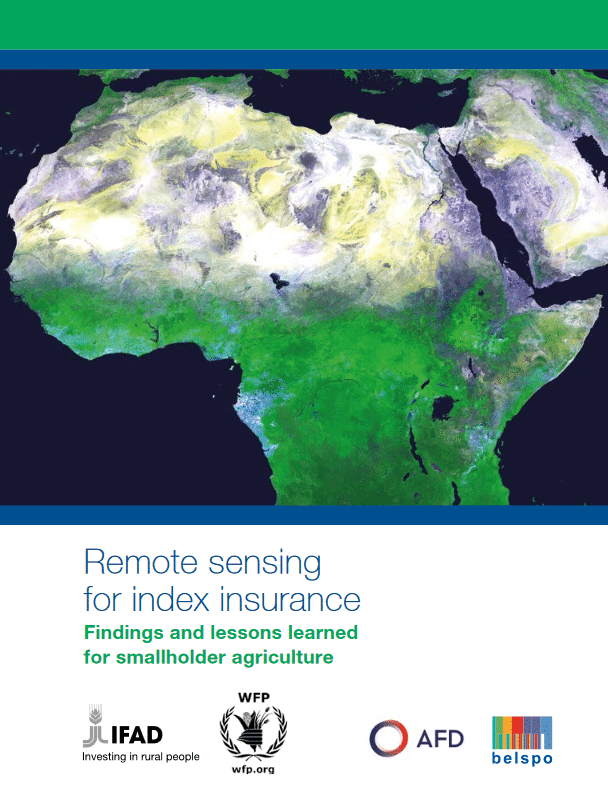 Remote sensing for index insurance : findings and lessons learned for smallholder agriculture