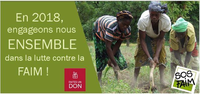 875 millions de personnes souffrent chaque jour de faim, pour inverser cette tendance, SOS Faim Luxembourg plaide pour des dons de Noël