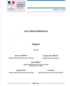 Les interprofessions en France: rapport du Conseil Général de l'alimentation