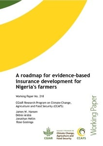 A roadmap for evidence-based insurance development for Nigeria's farmers