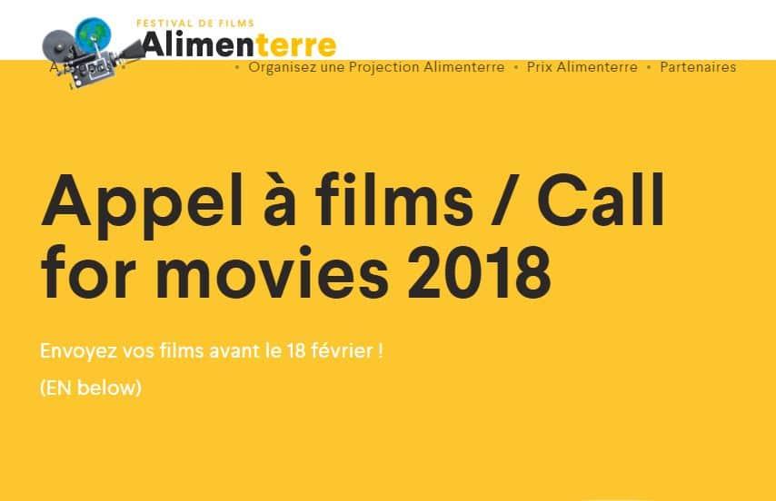 Festival Alimenterre 2018 : SOS Faim Belgique lance un appel à films !