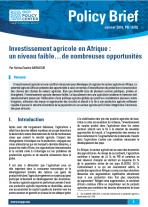 Investissement agricole en Afrique : un niveau faible… de nombreuses opportunités