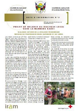 Projet de relance du dialogue local dans la Mambere Kadei