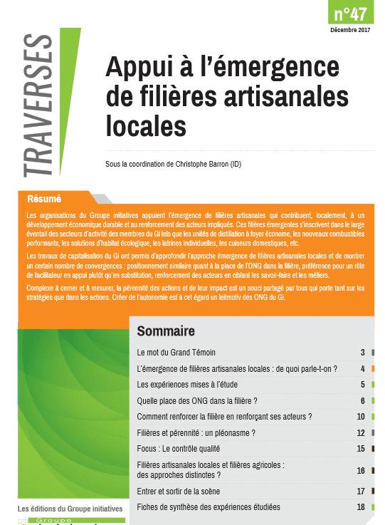 Traverses n°47: Appui à l'émergence de filières artisanales locales