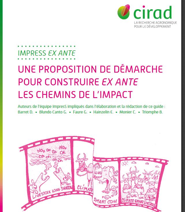 Publication CIRAD sur l'impact de la recherche :  guides de la méthode ImpresS