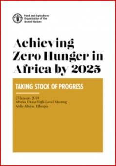 Atteindre la faim zéro en Afrique d'ici 2025 : faire le point sur les progrès et leçons