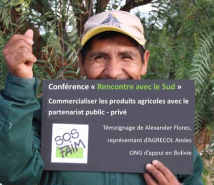 SOS Faim Belgique reçoit dans ses locaux, son partenaire bolivien AGRECOL