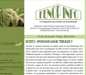 Bulletin FENOP Info N°31