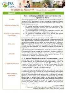 Gazette du Réseau FAR de janvier-mars 2018