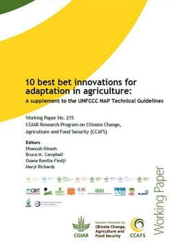 Best-bet innovations for adaptation in agriculture