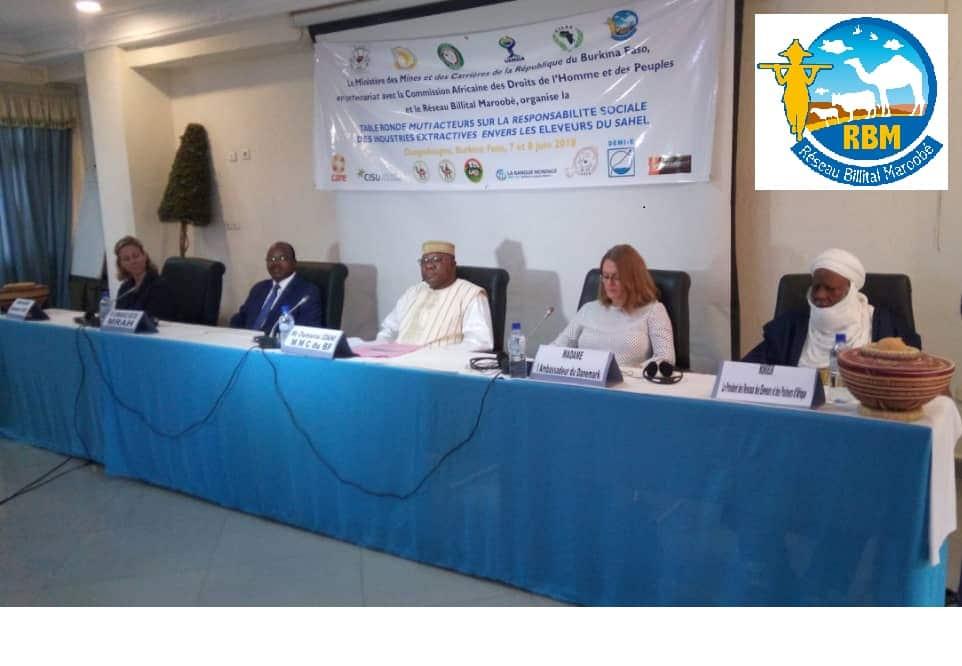 Responsabilité sociale des industries extractives : le Réseau Billital Maroobé (RBM) organise une table ronde multi acteurs à Ouagadougou