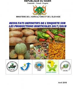 Rapport: Résultats définitifs de l'enquête sur les productions horticoles 2017 / 2018 au Niger