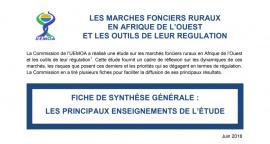 Fiches de synthèse : découvrir les principaux enseignements de l'Étude régionale sur les marchés fonciers ruraux en Afrique de l'Ouest et les outils de leur régulation