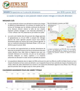 Rapport: Analyse des perspectives de la sécurité alimentaire au Niger