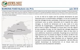 Bulletin: les tendances des prix des aliments de base au Burkina Faso