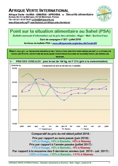 Point Situation Alimentaire n°207