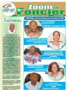 Bulletin : Zoom sur le foncier N°12/Juin 2018 - Burkina Faso