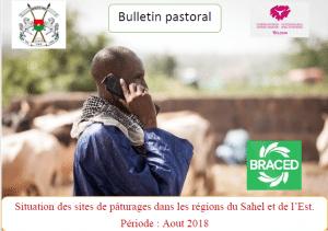 Bulletin pastoral Août 2018: Situation des sites de pâturages dans les régions du Sahel et de l'Est