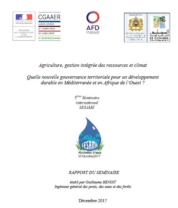 Rapport: Quelle nouvelle gouvernance territoriale pour un développement  durable en Méditerranée et en Afrique de l'Ouest ?