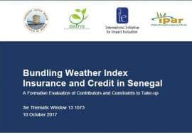 Assurance indicielle au Sénégal : l'IPAR nous éclaire sur les contraintes et supports à la demande