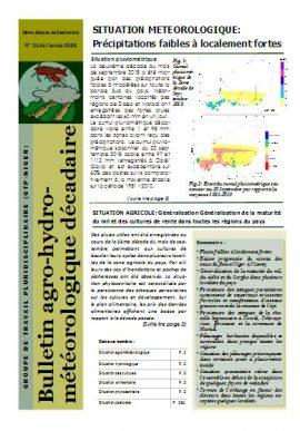 Bulletin agro-hydro-météorologique - 2ème décade septembre 2018