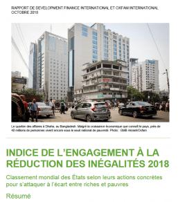 Indice de l'Engagement à la réduction des inégalités 2018 : Seconde édition