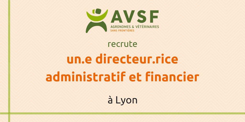 AVSF recrute un(e) directeur(rice) administratif et financier à Lyon
