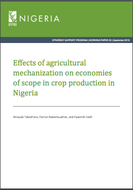 Publications : Agricultural mechanization in Nigeria