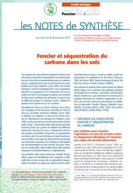 Note de synthèse : Foncier et séquestration du carbone dans les sols