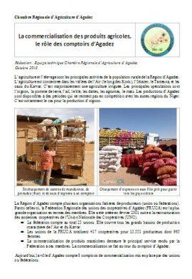 Note : Commercialisation des produits agricoles